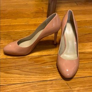 Ann Taylor Pink Patent Leather Heels
